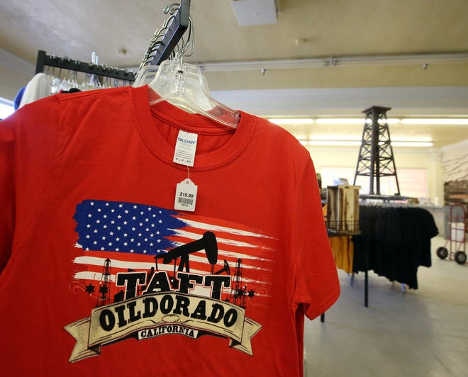 A preview of some of the clothing that will go on sale when the Oildorado Store opens on Friday.