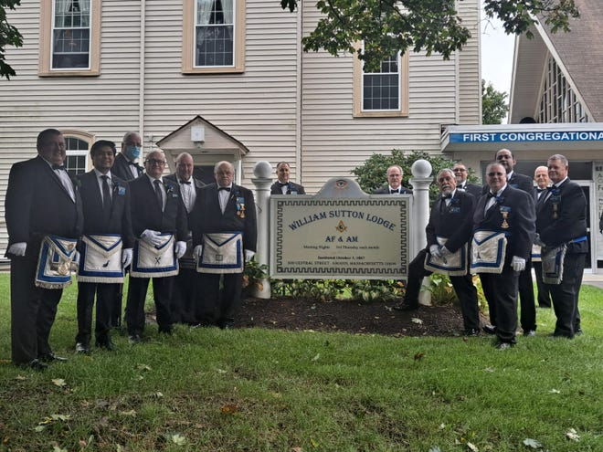 The installation of the officers at the William Sutton Masonic Lodge in Saugus on Sept. 18, 2021.