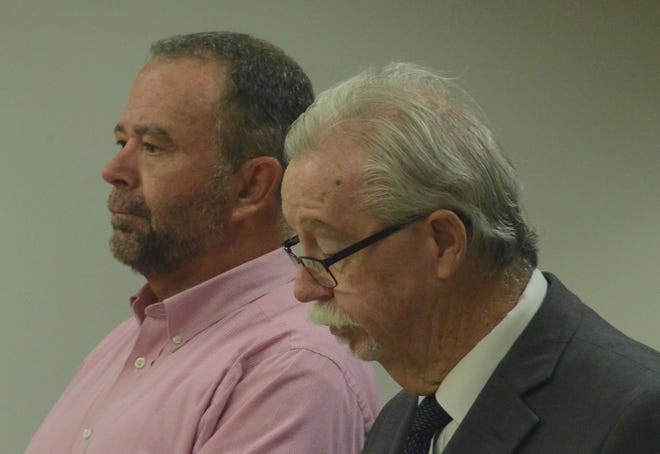 Rob Behnke, left, and his attorney, Patrick O'Connell, in court on Monday.  (Trace Christenson/The Enquirer)