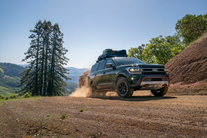 Preproduction Timberline model with available Ford Accessories shown. Available winter 2022. Always consult the Owner's Manual when off-road driving, know your terrain and trail difficulty, and use appropriate safety gear.