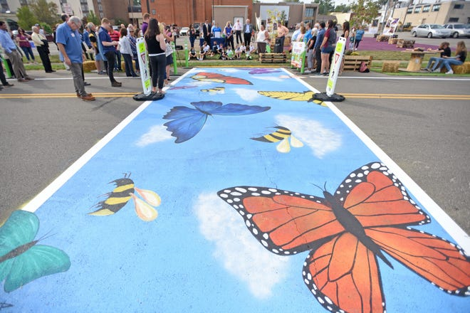 """The opening of the """"Imagination Park on 3rd Street,"""" was celebrated Monday morning during the ribbon cutting ceremony."""