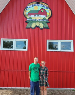 Ben and Laura Johnson own Duesterbeck Brewing Co. in Elkhorn.