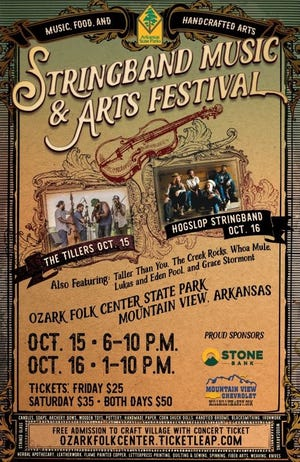 The Stringband Music & Arts Festival will run from Oct. 15 through Oct. 16.