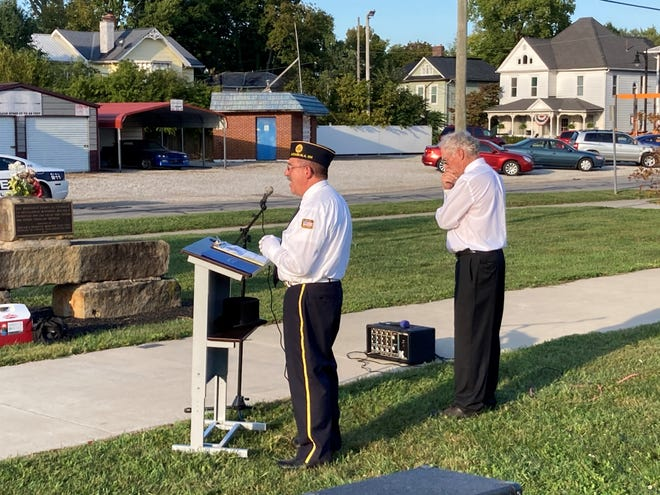 Commander Fred Pringle, Legion Post 107, Pataskala, recalls his father, Army Sgt. 1st Class Joe Harold Pringle, who has been missing since Feb. 2, 1968.