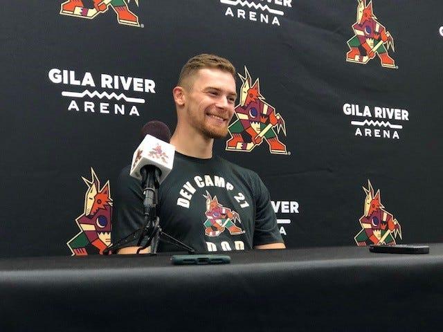 Coyotes goaltender prospect Karel Vejmelka, postgame, Sept. 19, 2021