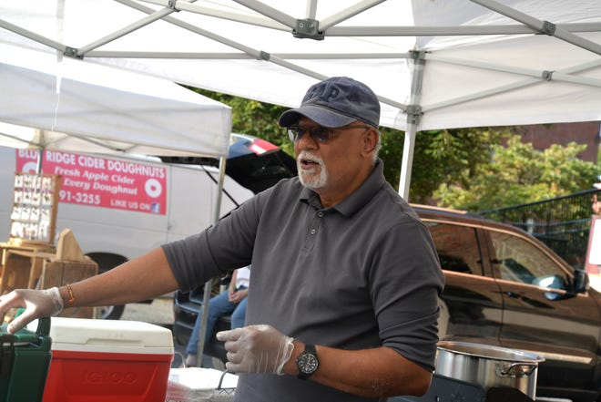 Bharat B. Shah at his Chai Dhaba booth at the Staunton Farmers Market on Sept. 18, 2021.