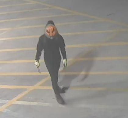 Crime Stoppers of Wichita Falls is asking for your help finding  burglars wearing Halloween masks who broke into a smoke shop as shown in surveillance images.