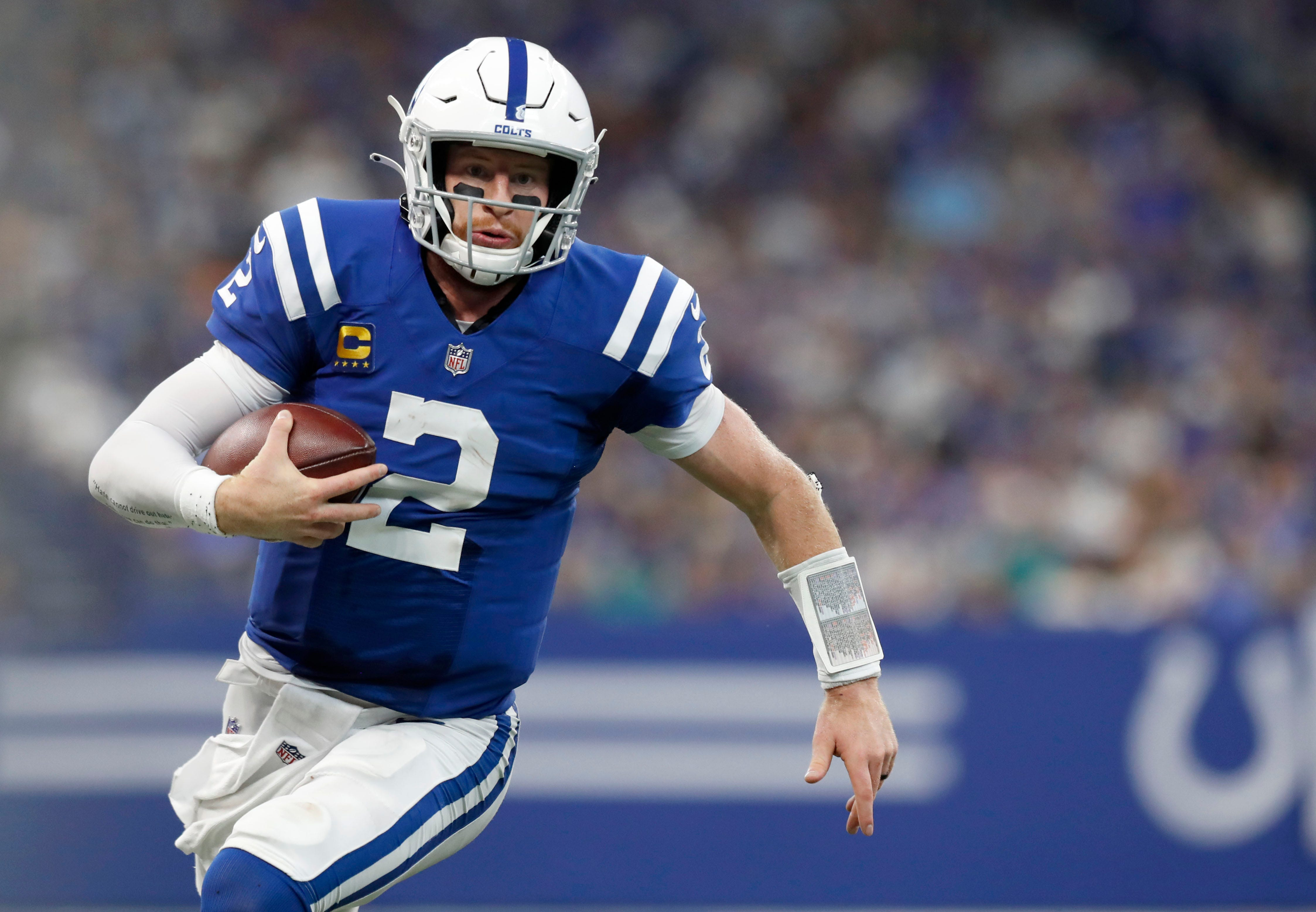 Colts QB Carson Wentz suffered sprains in both ankles, status vs. Titans unclear