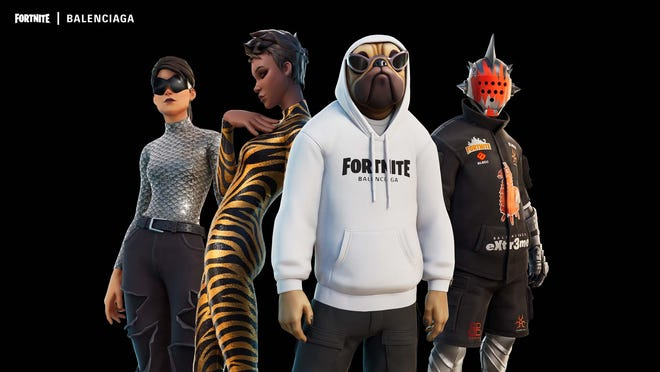Digital apparel from Balenciaga players can wear in the video game Fortnite.