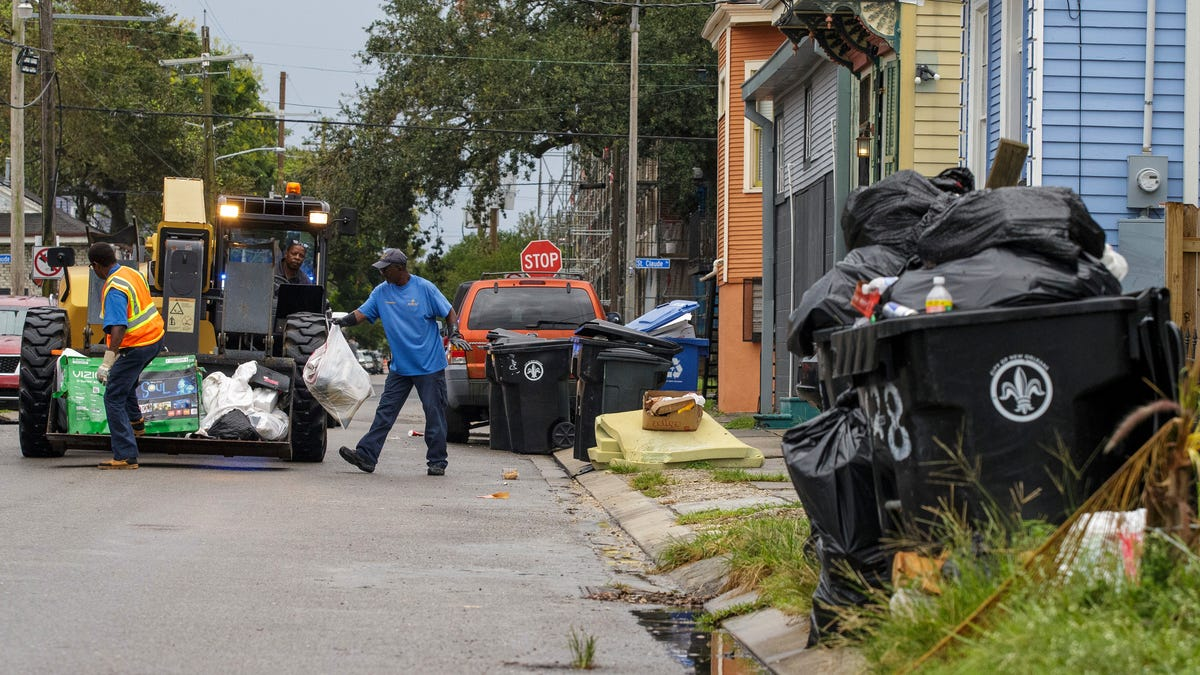 The streets of New Orleans after Hurricane Ida: 'Trash everywhere' and a 'revolting' stench