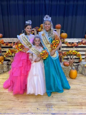 The 57th annual Barnesville Pumpkin Festival royalty includes:Princess Alexa Plumby, a 13-year-old eighth-grader from St. Clairsville; Mini Miss Sophia Jones, a 9-year-old fourth-grader from Barnesville; and Queen Lindsay Drumm, a 19-year-old sophomore at Ohio State University from Heath.