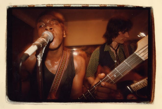 An early photo of Screaming Urge featuring Myke Rock (left) and Michael Ravage