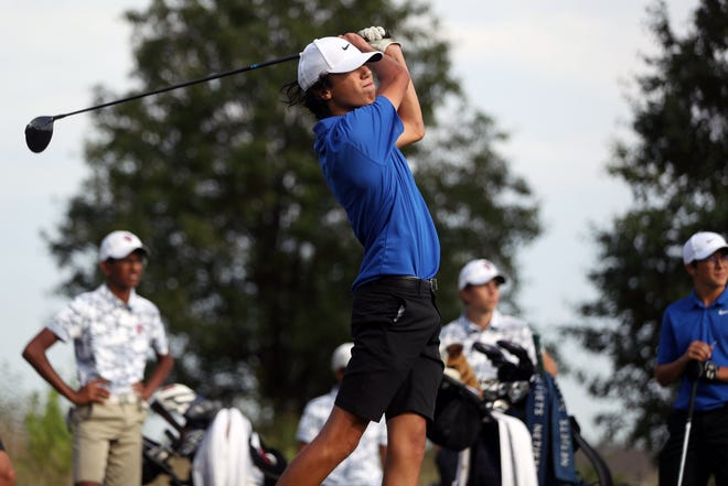 """A tireless work ethic has helped Bexley senior Robby Meyer add about 60 yards to his drives over the past two years. """"I've put in a lot of work lifting and working on getting my swing speed up,"""" he said."""