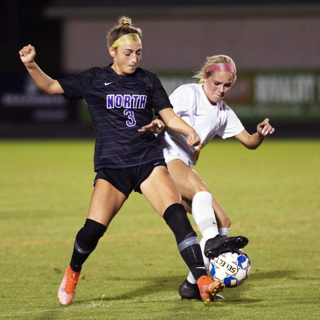 Junior outside back Cate Pickering is one of three returning starters on a North defense that allowed 11 goals through 11 games with five shutouts.