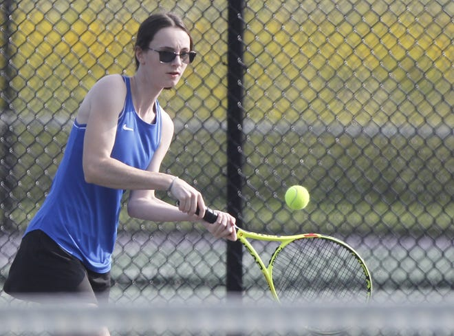 Junior Frankie Nusshas been playing first singles for Gahanna. In the Division I postseason, sheis expected to play doubles with senior Caroline Mattox.