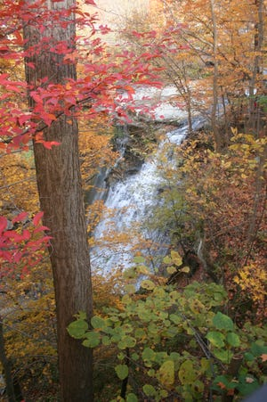 Brandywine Falls is one of the beautiful autumn attractions in Cuyahoga Valley National Park. (Shown here from a previous year.)
