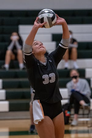 Westerville Central's Mia Saunders recorded her 1,000th career assist Sept. 7 against Westerville North. The senior setter injured her left shoulder two days later against Gahanna and hopes to return by the end of the month.