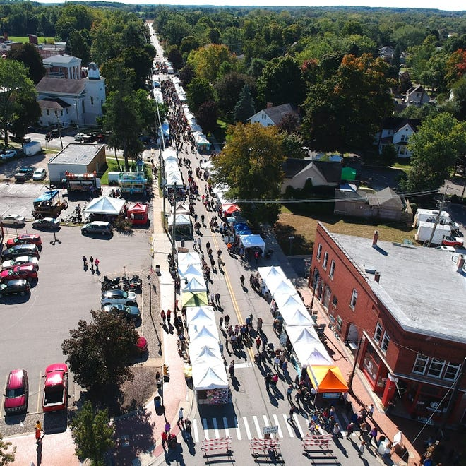 After a year away because of the COVID-19 pandemic, Clinton's Fall Festival makes a return this weekend, Friday, Sept. 24 through Sunday, Sept. 26. This aerial shot of the 2019 festival throughout downtown Clinton was posted on the Fall Festival's Facebook page.