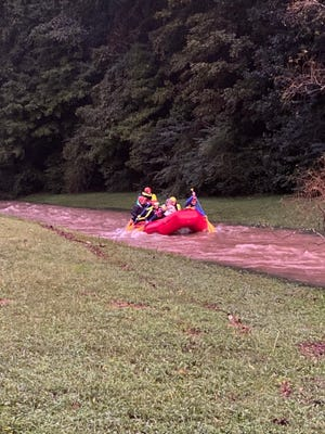 Four rescued in high waters, exceeding 2010 flood in Maury County