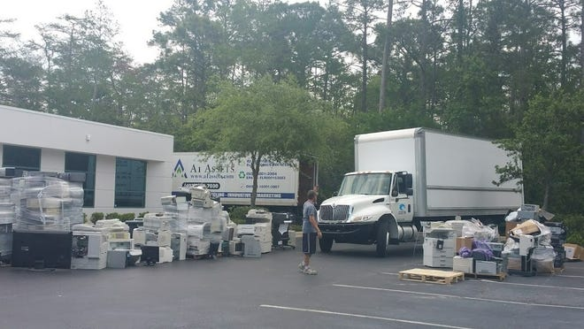 Vann Data Services at 1801 Dunn Ave. in Daytona Beach collects old computers and electronic devices at its annual technology recycling event in this photo from a few years ago. The tech services firm will host another recycling event Thursday, Sept. 23, 2021, from 10 a.m. to 2 p.m.