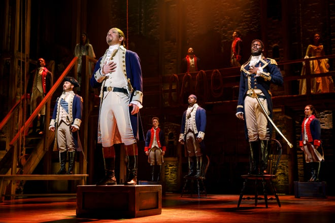 """""""Hamilton"""" opens a 24-show run in Jacksonville this week."""