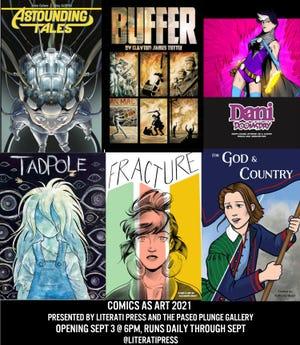 "Promotional art for 2021's ""Comics as Art"" exhibition."