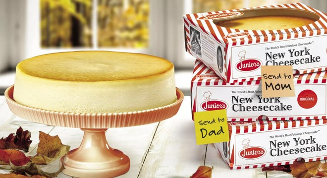 Carleton Varney of Dorothy Draper & Co. sometimes orders desserts from Junior's Cheesecake in New York City as memorable and tasty gifts.
