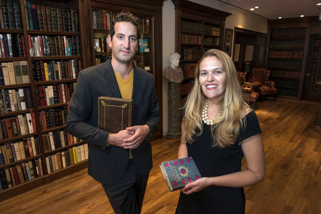 Matthew and Adrienne Raptis opened Raptis Rare Books at 226 Worth Avenue in 2016. They plan to renovate three unitsin a nearby building for a new rare book gallery space and a separate take-out café.