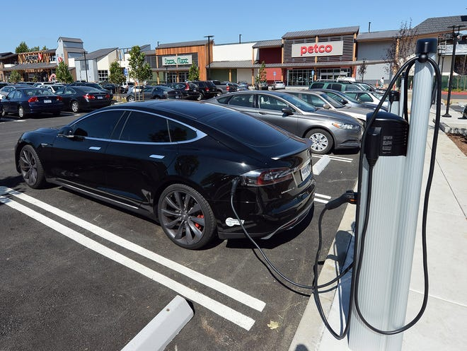 The cost per mile for an electric car is less than the operating cost of a gas car.