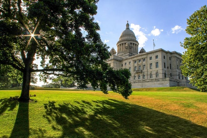 The grounds of the Rhode Island State House.