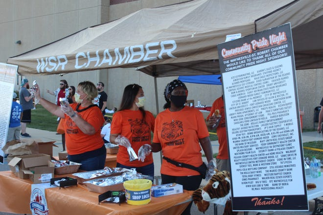 Area businesses also gave out all sorts of goodies at the event held in front of the Waynesville High School Gymnasium, Sept. 17.