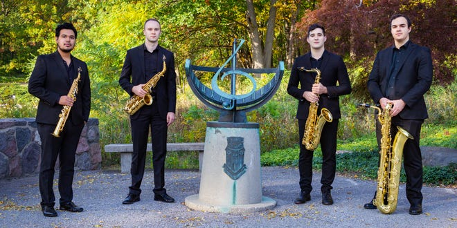 The Aero Quartet will perform Sept. 23, 2021, at Merrimans' Playhouse as part of the venue's Chamber Arts Series. The saxophone quartet won the Gold Medal in the Senior Wind Division at the Fischoff National Chamber Music Competition in May 2021.