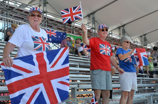 British rowing fans at the 2017 World Rowing Championships at Nathan Benderson Park in Sarasota. International travel will reopen for vaccinated travelers to the U.S. starting in November.