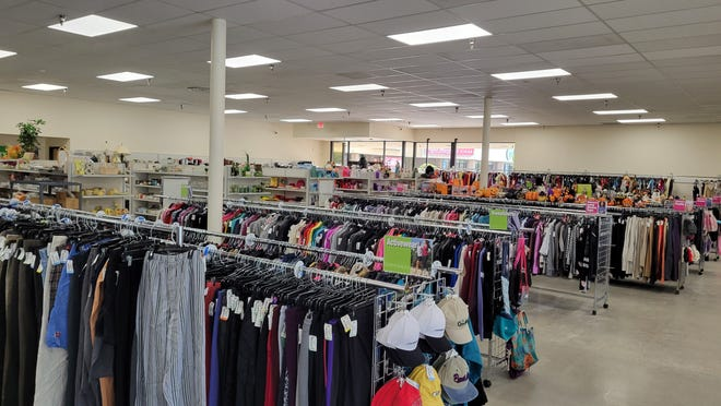 Some of the items to be offered at the new Yreka Goodwill Store. It will open on Thursday, Sept. 23, 2021.