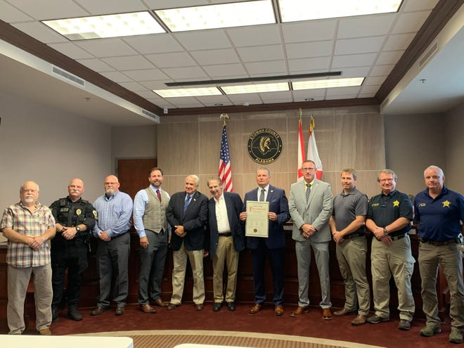 Community members were honored during the Etowah County Commissioner's meeting on Tuesday for their service at Ground Zero during the 9/11 terrorist attacks.