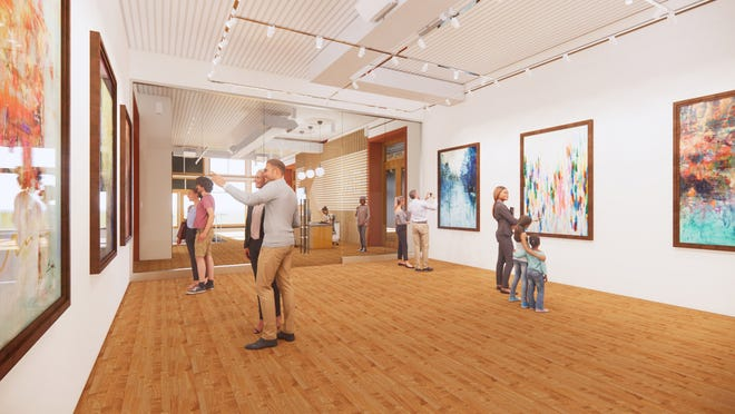 Construction at Arts On Main, 415 Main St., Van Buren, will be completed in October. The 17,000-square-foot, state of the art facility will support artistic creation and education through classes, exhibitions and public programs.