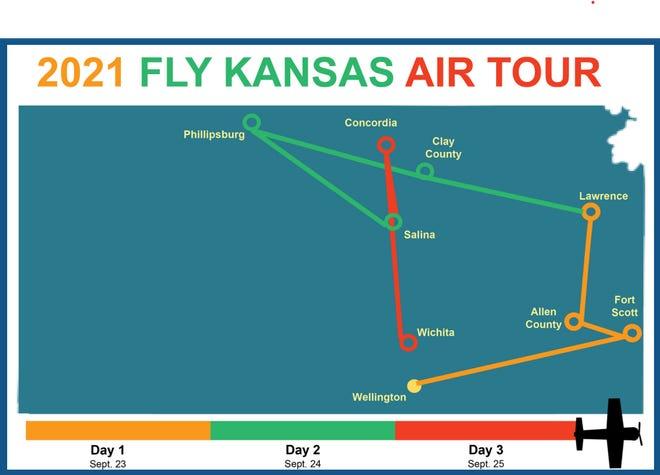 2021 Fly Kansas Air Tour starts in Wellington on Thursday, Sept. 23