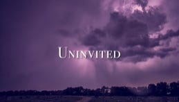 """Front cover of Adam Catlin's new book """"Uninvited"""""""