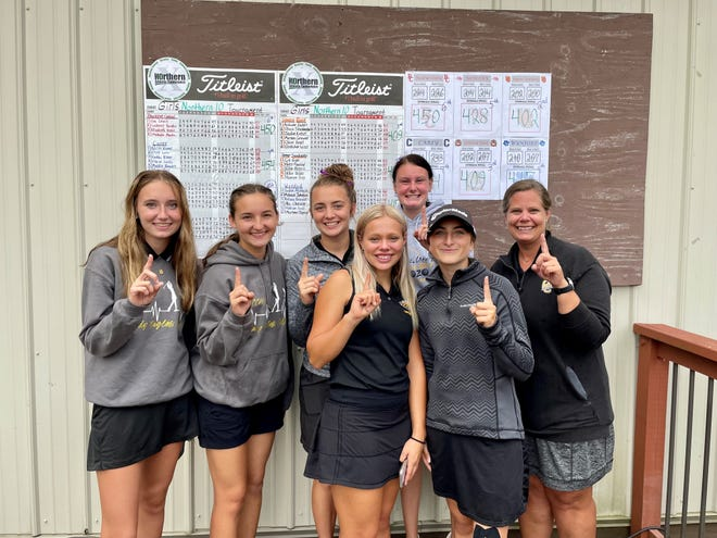 Colonel Crawford won the Northern 10 girls golf tournament with a team score of 374, it was the Lady Eagles' third-straight league title.