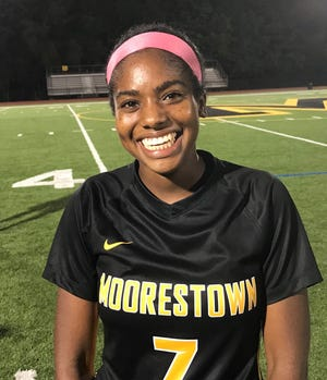 Moorestown's Sydney Parks is one of the talented young players who is making a huge different so far this season. On Monday, she scored twice to lift the Quakers to a 3-2 win over Cinnaminson.