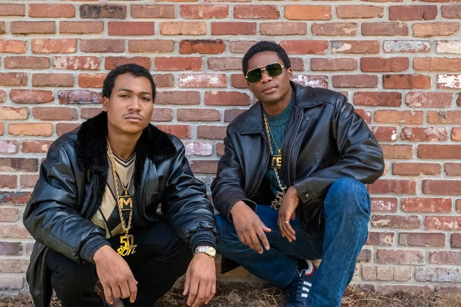 "Demetrius Flenory Jr. and Da'Vinchi play Demetrius (Big Meech) Flenory and Terry (Southwest T) Flenory in the new Starz series ""BMF."""