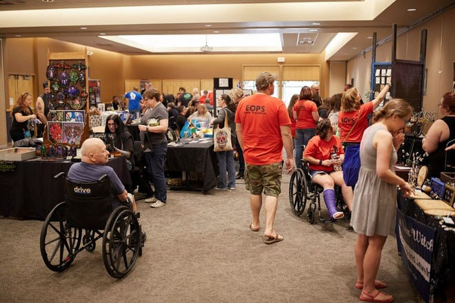 The Milwaukee Paranormal Conference features more than 30 vendors. This year's event runs Sept. 24-26. This is a photo from the 2019 conference.