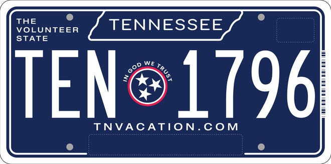 Tennessee's new license plate design unveiled on Oct. 5, 2021.