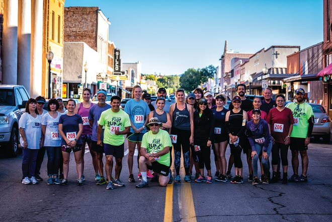 Participants in the inaugural Western New Mexico University Homecoming 5k Fun Run, which ends in downtown Silver City. The 2021 WNMU Homecoming celebrations kick off Thursday and run through Saturday night.