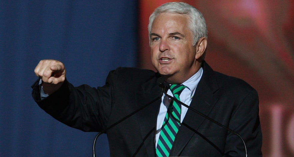 Rep. John Shadegg, R-Ariz., of the 3rd Congressional District, rallies supporters for Republicans and Republican presidential candidate Sen. John McCain, R-Ariz., at an election night rally Tuesday, Nov. 4, 2008, in Phoenix.