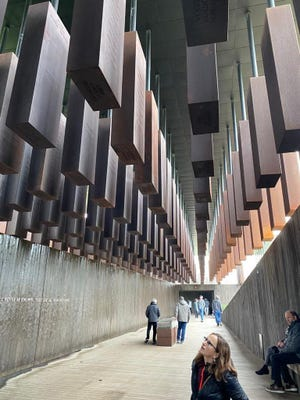 The names of lynched Americans are inscribed at the National Memorial for Peace and Justice in Montgomery, Alabama. (Lois K. Solomon/South Florida Sun Sentinel/TNS)