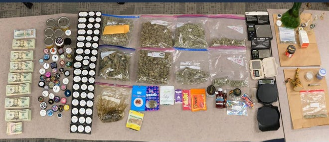 Law enforcement seized 2.5 pounds of marijuana, THC products, drug paraphernalia and more than $19,000 from a Dublin residence.