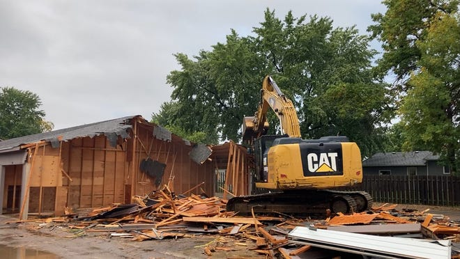 Demolition of storage units behind the Silver Valley Plaza in western Sioux Falls will add nearly 80 more parking spaces for the mall's tenants and customers.
