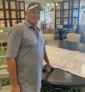 Hobe Sound resident Mike O'Connor worked alongside architect Pete Dye for five years building Whistling Straits in Wisconsin in the 1990s, serving as project manager. He has large handwritten drawings Dye made when creating the course.