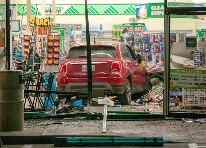 Wichita Falls police worked the scene of a vehicle accident Monday night at the Dollar Tree on Kemp Boulevard.